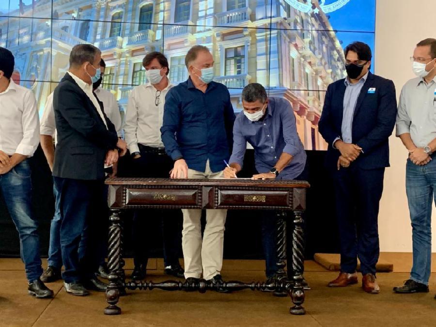 Obra vai dobrar capacidade de tratamento de esgoto em Manguinhos e região