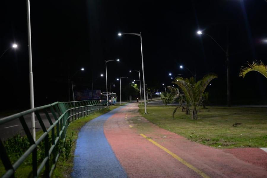 Serra mais iluminada com 144 novos pontos de iluminação pública