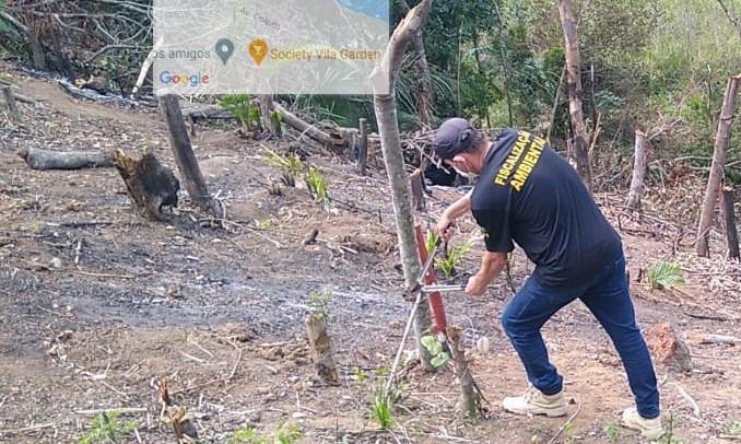 Fiscalização Ambiental flagra desmatamento de 1.200 m² na Lagoa Juara