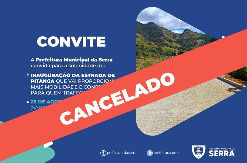 Cancelada entrega da nova estrada de Pitanga neste sábado (28)