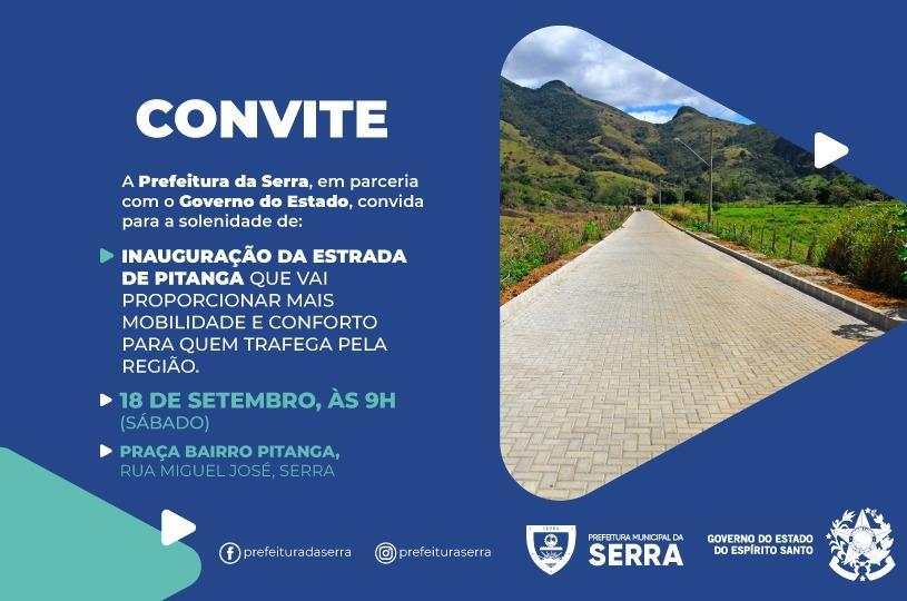 Inauguração da nova estrada de Pitanga neste sábado