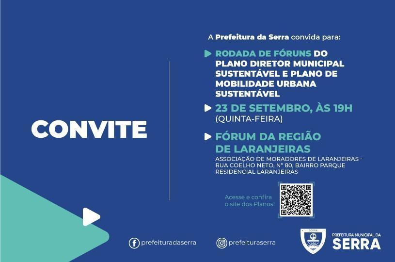 Laranjeiras debate Plano Diretor Municipal e de Mobilidade nesta quinta (23)