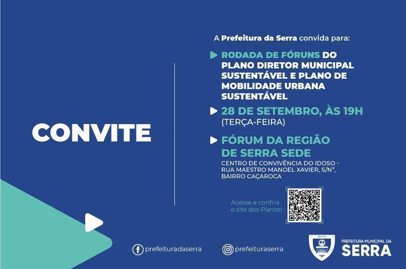 Serra Sede debate Plano Diretor Municipal Sustentável e de Mobilidade