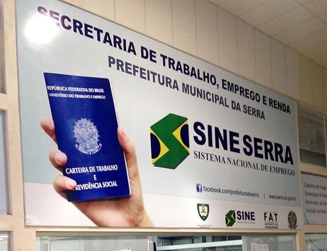 Mais de 100 vagas nesta sexta (7) no Sine da Serra