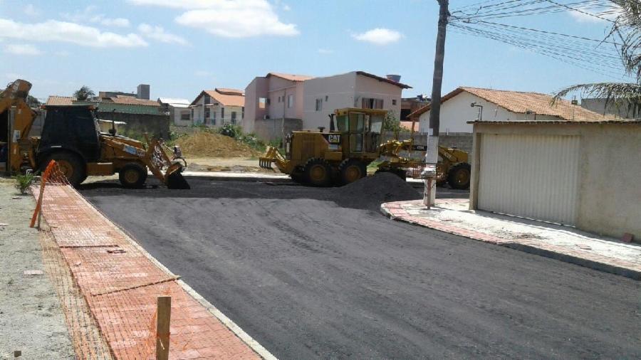 Pavimentação em Planície da Serra chega a reta final