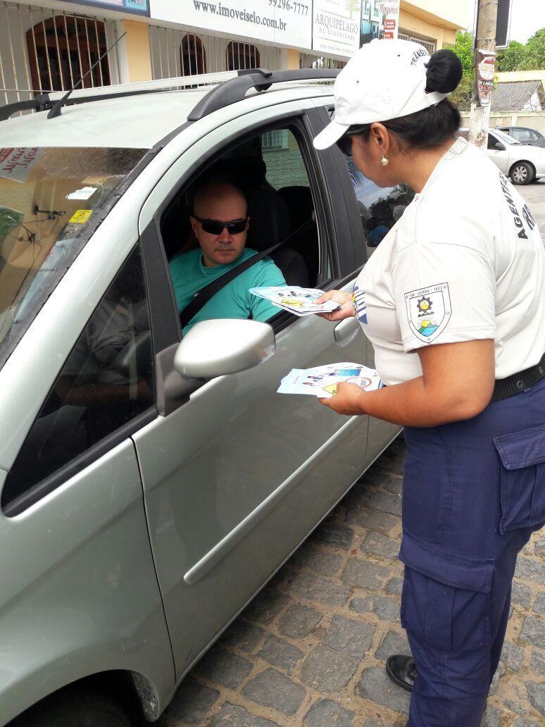 Maio Amarelo: agentes de trânsito promovem campanha em Colina de Laranjeiras
