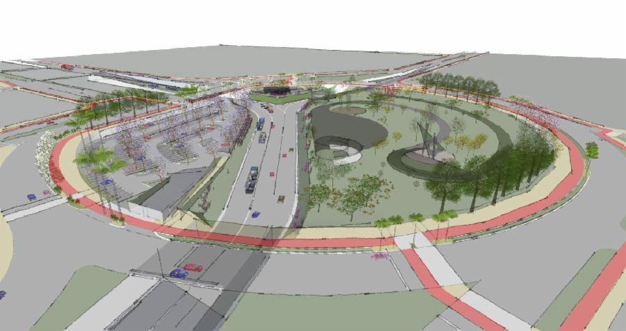 Rotatória do Dório Silva vai ter túnel, praça de eventos e ciclovia
