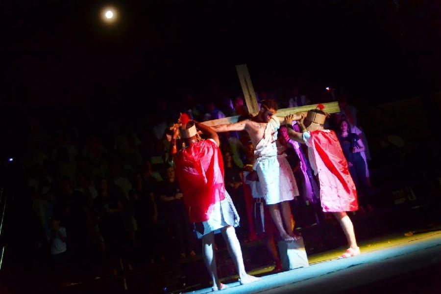Encenação da Paixão de Cristo na Serra