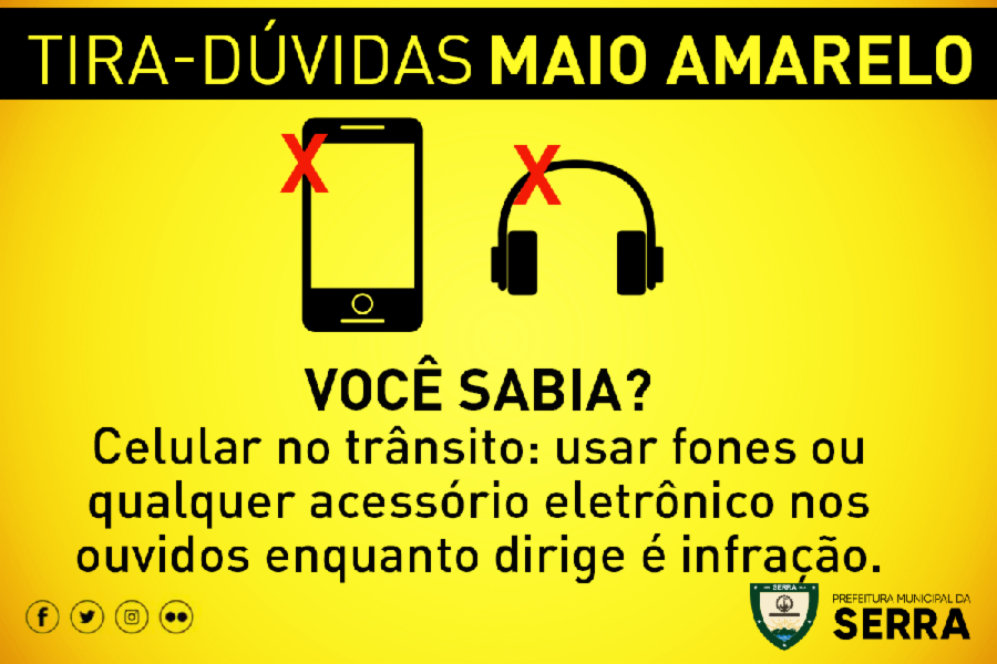 Maio Amarelo: tire dúvidas quanto ao uso do celular no trânsito