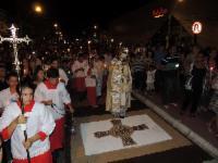 Ruas da Serra recebem decoração de Corpus Christi nesta quinta-feira (15)