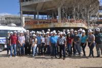 Futuros engenheiros visitam obras do Hospital Materno Infantil da Serra