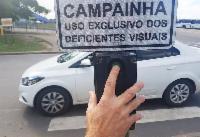 Botoeiras sonoras criam rota acessível no trânsito da Serra
